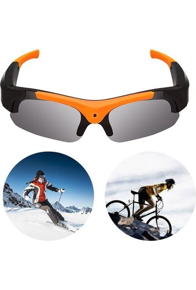 EVKVO Hd 1080P Kamera Akıllı Gözlük Siyah Polarize Lens Güneş Gözlüğü Kamera Aksiyon Spor Video Kaydı (Yurt Dışından)