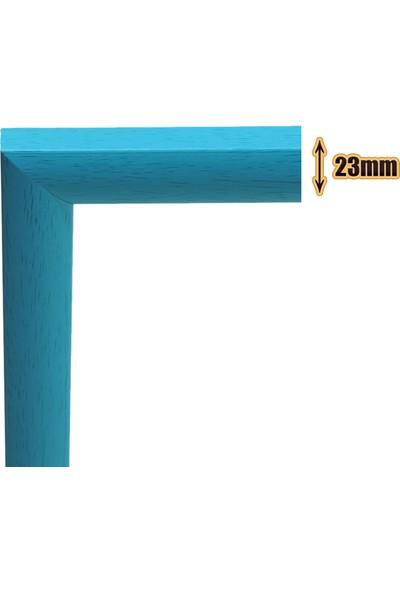 Efor Puzzle Çerçevesi 1000 Parça -Camsız - 2.ölçü 66 cm x 48 cm - Renk Mavi-Çerçeve 23 mm