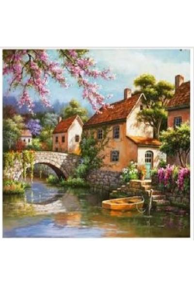 Art Liva Tuvalli Doğa ve Evler Sayılarla Boyama Hobi Seti 40 x 50 cm