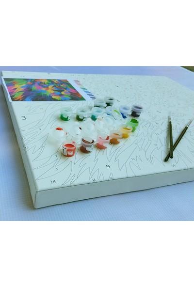 Art Liva Mutfağın Renkleri Tuvalli Sayılarla Boyama Hobi Seti 40 x 50 cm