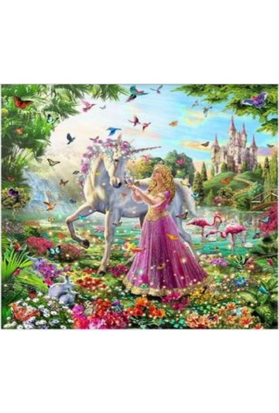Art Liva Unicorn & Prenses Sayılarla Boyama Hobi Seti Tuval 40 x 50 cm