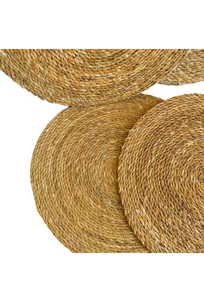 Bambum Amerikan Servis Hasır Supla Örme Bambu 6'lı Takım