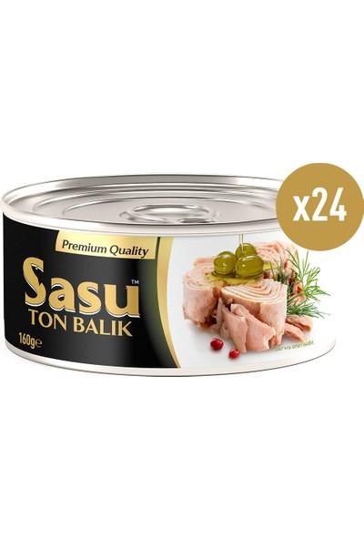 Sasu Zeytinyağlı Ton Balık 24 x 160 gr (1 Koli)