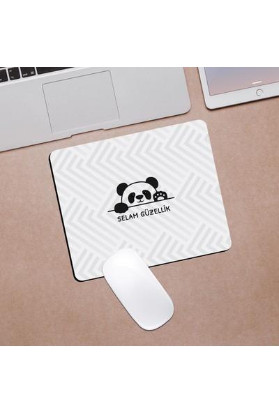 Hediyehanem Selam Güzellik Tatlı Panda Mouse Pad