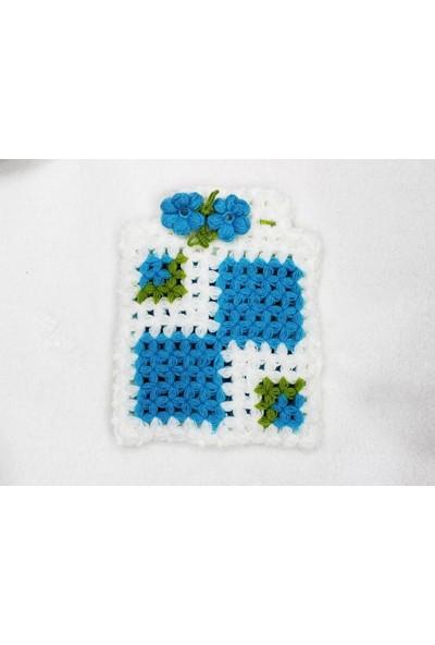 Sportica Nutrition El Işi Kese Lif Karelim Beyaz Mavi