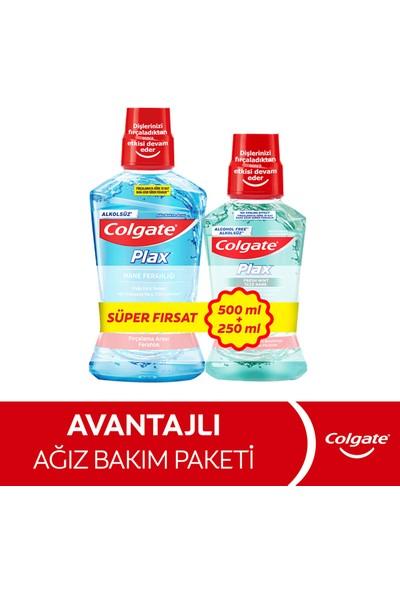 Colgate Plax Nane Ferahlığı 500 Ml+Taze Nane 250 ml Ağız Bakım Suyu+Dilsil Dil Temizleyici 2 Adet