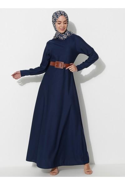 Basic Elbise - Indigo - Ecesun
