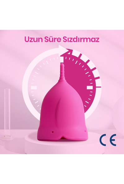 Mothersmart femometer® Adet Kabı - Medikal Sınıf Silikon Menstrual Cup (B Size)