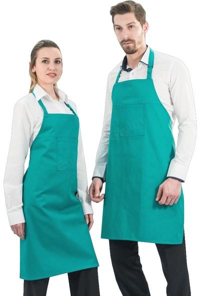 Şensel, Ön Önlük, Yeşil, Boyundan Askılı (93E3221) Garson-Mutfak
