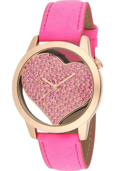 Elizabeth 9364 Kalp Desenli Kayışlı Kadın Kol Saati