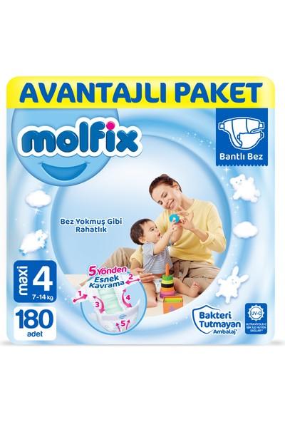 Molfix Bebek Bezi 4 Beden Maxi Avantajlı Paket 180'LI