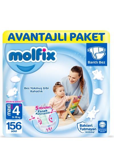 Molfix Bebek Bezi 4+ Beden Maxi Plus Avantajlı Paket 156'LI