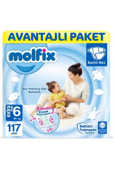 Molfix Bebek Bezi 6 Beden Ekstra Large Avantajlı Paket 117'LI