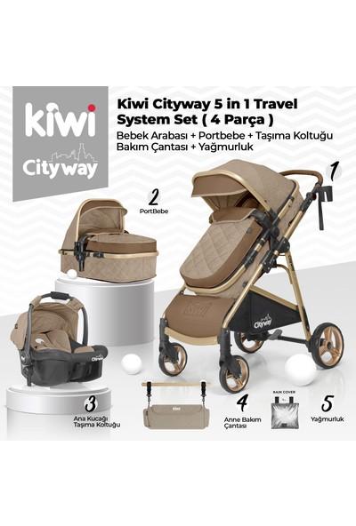 Kiwi 4x4 Yeni Doğan Paketi Cityway Bebek Arabası+Koala Mama Sandalyesi+T-Bag Çanta+Sleeper Beşik