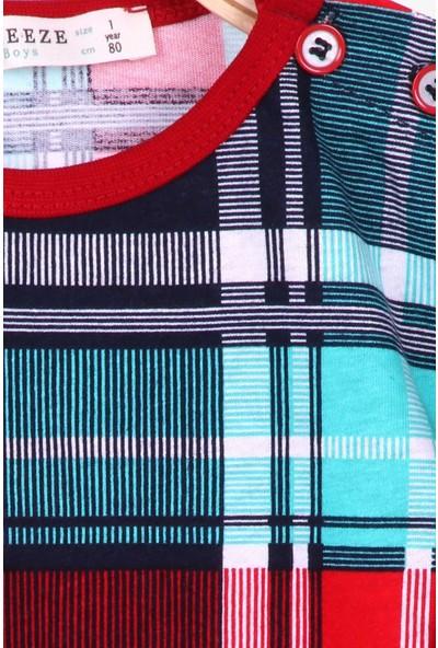 Breeze Erkek Bebek Pijama Takımı Ekoseli Karışık Renk (9 Ay-3 Yaş)