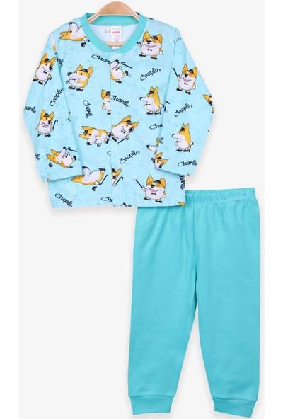 Breeze Erkek Bebek Pijama Takımı Tilki Desenli Su Yeşili (4 Ay-1 Yaş)