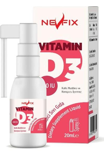 Nevfix Magnesıum Cıtrate Vitamin B-6 120 Tablet & Vitamin D3 400 Iu 20 ml Sprey (Sıvı)