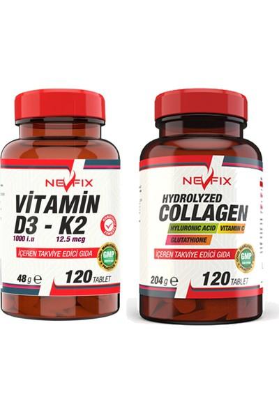 Nevfix Glucosamine Chondroitin Msm 120 Tablet & Vitamin D3-K2 120 Tablet
