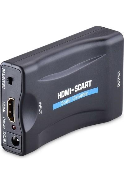 Alfais 4363 HDMI To Scart Av Video Tv Çevirici Dönüştürücü Adaptör