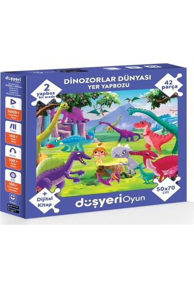 Düşyeri Dinozorlar Yer Yapbozu 50* 70 cm 42 Parça