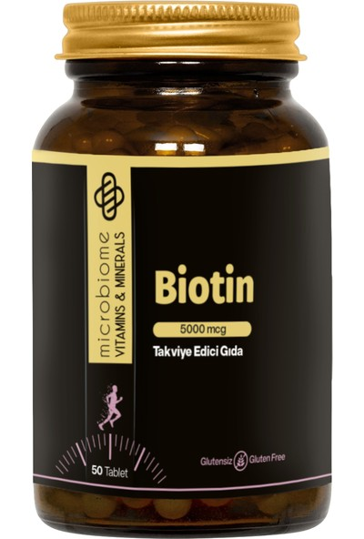 Microbiome Biotin 5000 Mcg 50 Tablet