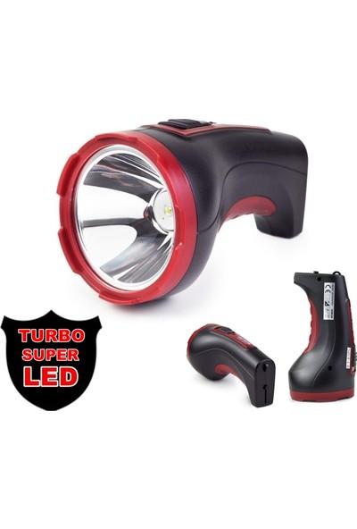 Yopigo Turbo ST - 506 Ultra Güçlü 2 Kademeli 5W+2W LED Şarjlı El Feneri
