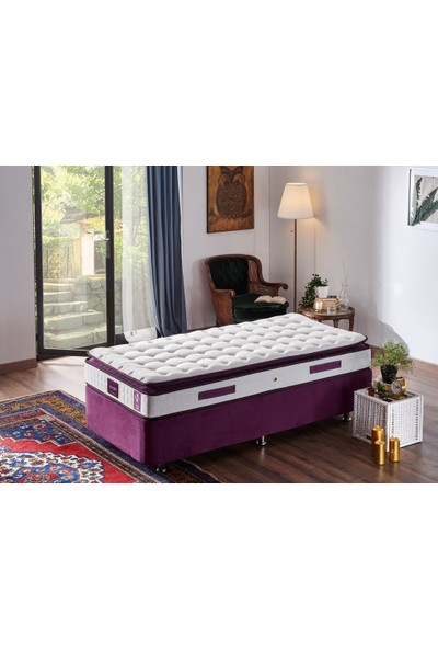 Niron Purple 90X200 Tek Kişilik Pedli Yaylı Yatak