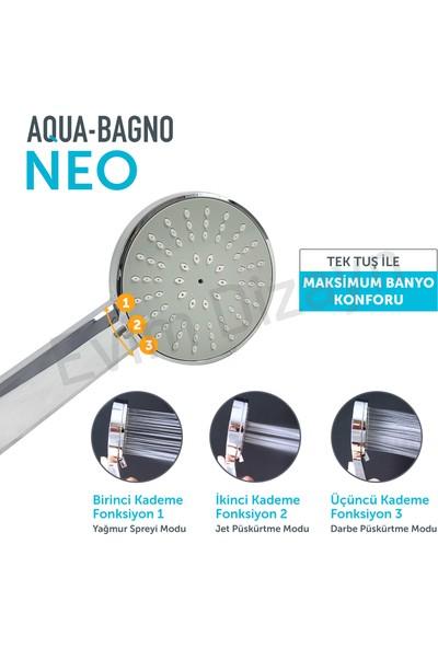 Aqua Bagno Neo El Duşu - Duş Başlığı 3 Fonksiyonlu