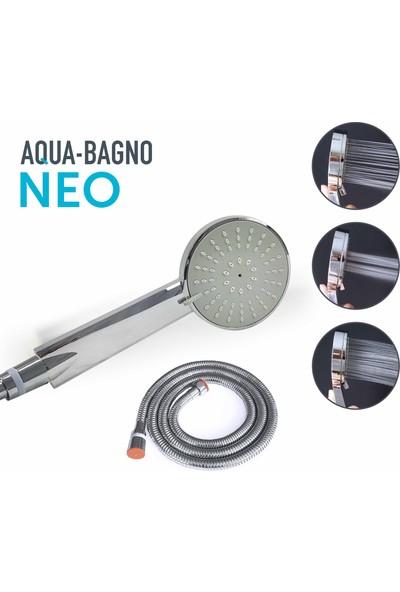 Aqua Bagno Neo El Duşu - Duş Spirali Hortumu Set 2 Parça