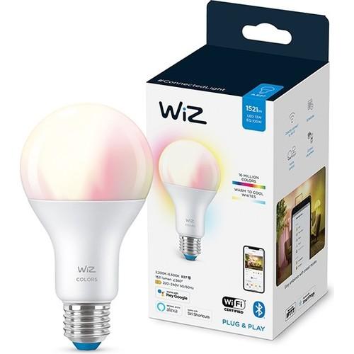 Wiz-Wi-Fi Renkli Ambiyans Akıllı Ampul - 100W - A67 - E27 Normal Duy