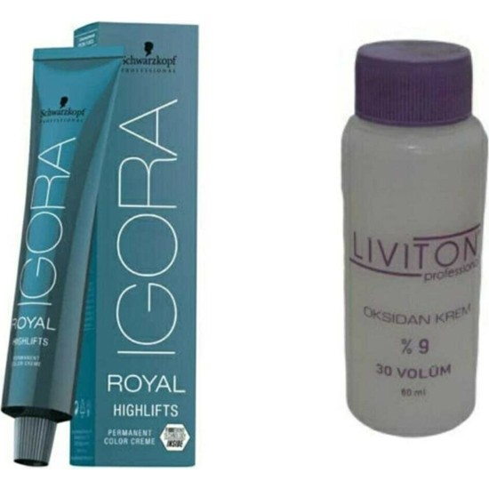 Igora 0-11 Sarı Azaltıcı Saç Boyası + Liviton Mini Oksidan 30 Vol.