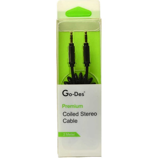 MobaxAksesuar Aux Audio Kablo 3.5mm Jack 2m Go Des GAC-201