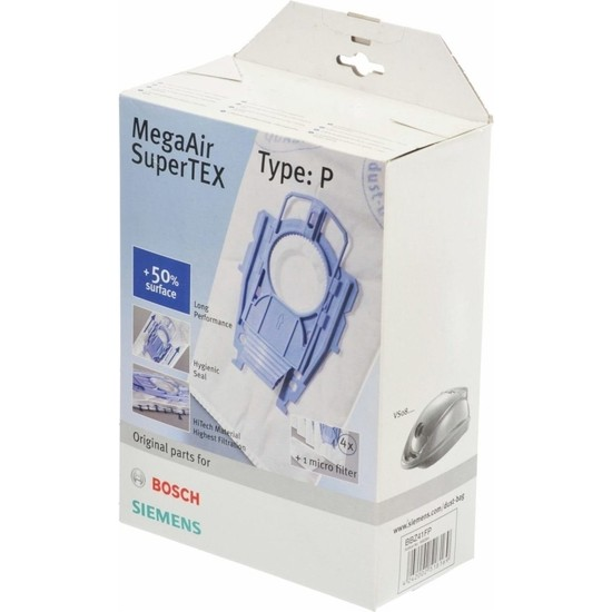 Bosch Ergomaxx Siemens Dynapower Süpürge Torbası P Tipi Orijinal