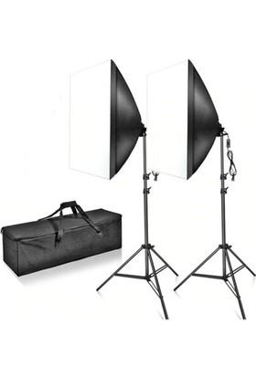 Fototek 50X70CM Softbox Ikili Sürekli Işık Seti 120W 6500K
