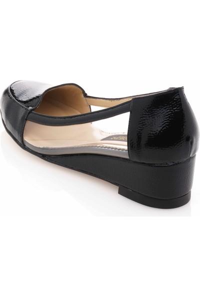 İriadam 17309 Siyah Transparan Büyük Numara Gündelik Kadın Ayakkabısı
