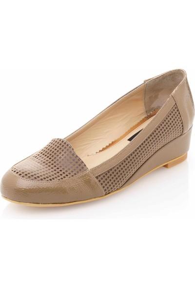 İriadam 17309 Vizon Baskı Büyük Numara Gündelik Kadın Ayakkabısı