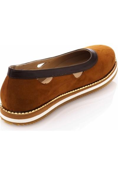 İriadam 17345 Taba Büyük Numara Gündelik Kadın Ayakkabısı