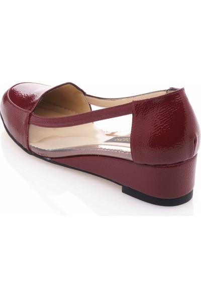 İriadam 17309 Bordo Transparan Büyük Numara Gündelik Kadın Ayakkabısı