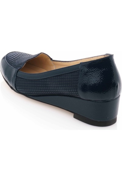 İriadam 17309 Lacivert Baskı Büyük Numara Gündelik Kadın Ayakkabısı