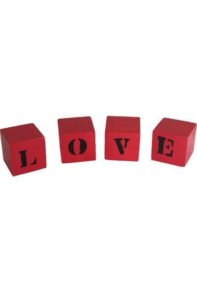 1Se2Ge Handmade Ahşap Dekoratif Love Yazı
