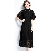 Wonderful Shopping Dantelli A Kesim Kadın Elbise (Yurt Dışından)