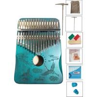Midex KLX-506 Hakiki Ağaç Su Yeşili Kalimba Full Set (Paslanmaz Çelik 17 Tuşlu)