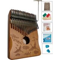 Midex KLX-500 Hakiki Ağaç Kalimba Full Set 17 Tuşlu (Metod Çanta Çekiç)