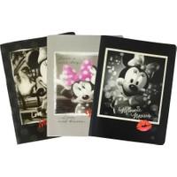 Mynote Minnie Mouse Campüs Boy Çizgili Okul Defteri 26 x 18,5 cm 3'lü