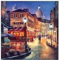 Art Liva Sayılarla Boyama Hobi Seti Tuvalli 40X50 cm Gece Sokak