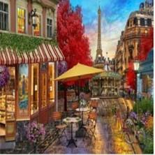 Art Liva Sayılarla Boyama Hobi Seti Tuvalli 40X50CM Paris Sokakları