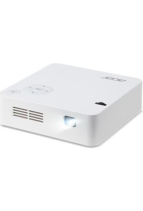Acer C202i WVGA 854x480 300 Lümen 5000:1 HDMI+ USB Bataryalı Tripod Mini WiFİ Projeksiyon Cihazı MR.JR011.001