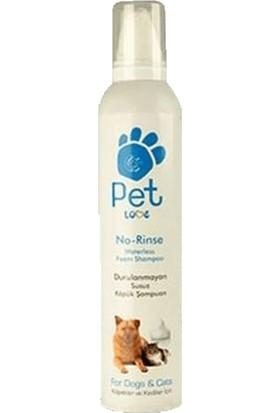 Pet Loves Pet Love Durulanmayan Susuz Kedi Köpük Şampuanı 300 ml