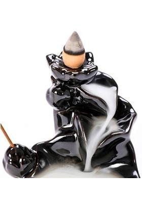 İyibifikir Zen Dekoratif Geri Akışlı Şelale Tütsülük 3-B + 40 Adet Hem Lavanta Aromalı Geri Akışlı Tütsü