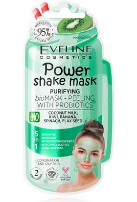 EVELİNE Powershake Probiyotikli Arındırıcı Yüz Maske ve Peelingi - Yeşil